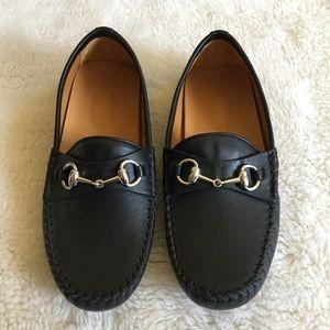 Gucci Little Boy Horsebit Shoes Size 11.5 Black
